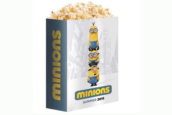Werbung auf Popcorntüten